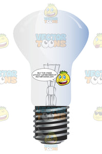 Incandescent Floodlight Glass Bulb