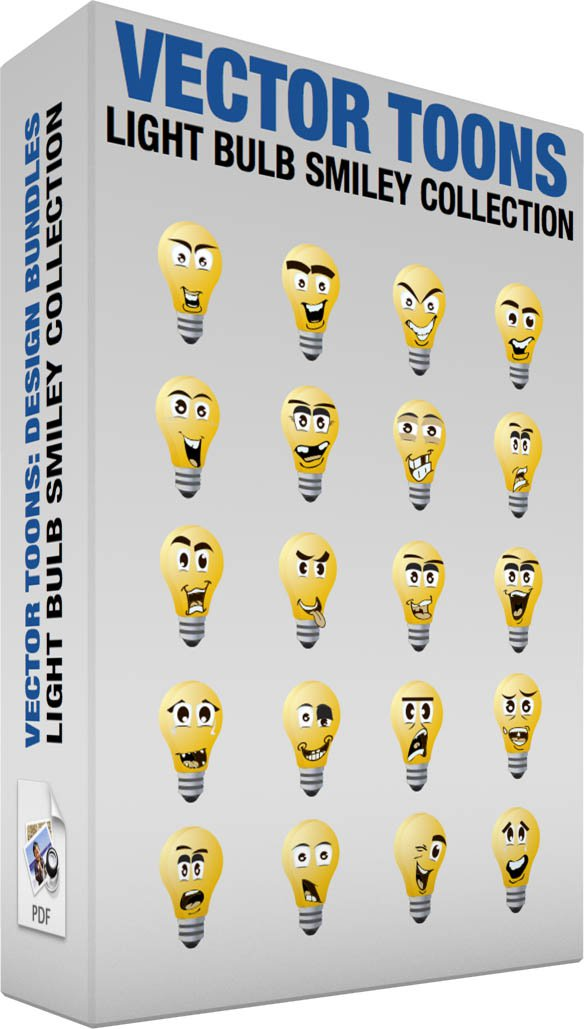 Light Bulb Smiley Collection