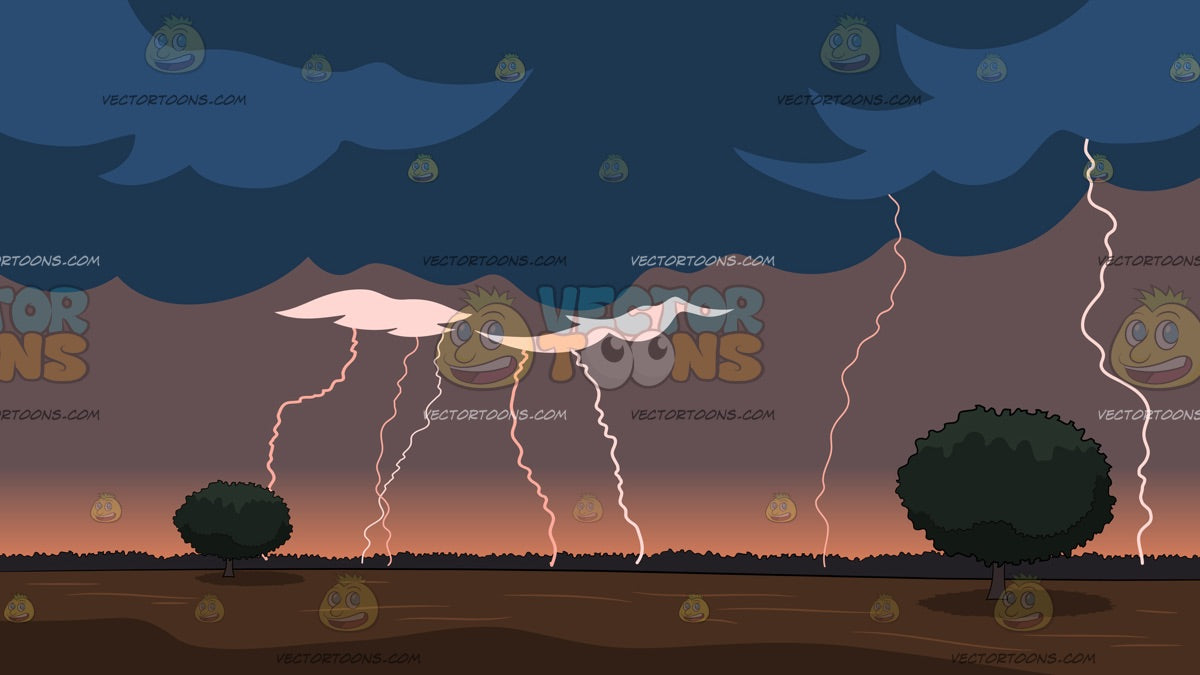 Lightning Storm Background