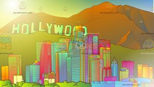 Los Angeles Skyline Background