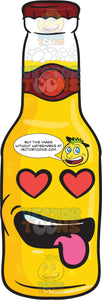 Love Struck Bottle Of Beer Emoji