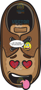 Love Struck Brown Shoe With Hanging Tongue Emoji