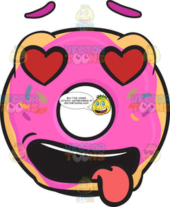 Love Struck Donut Emoji