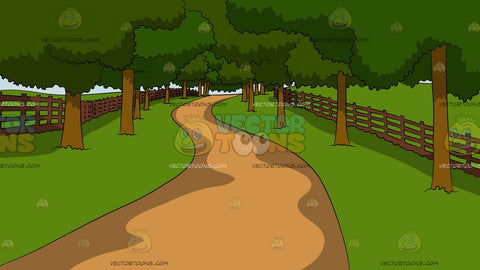 Lush Countryside Walkway Background