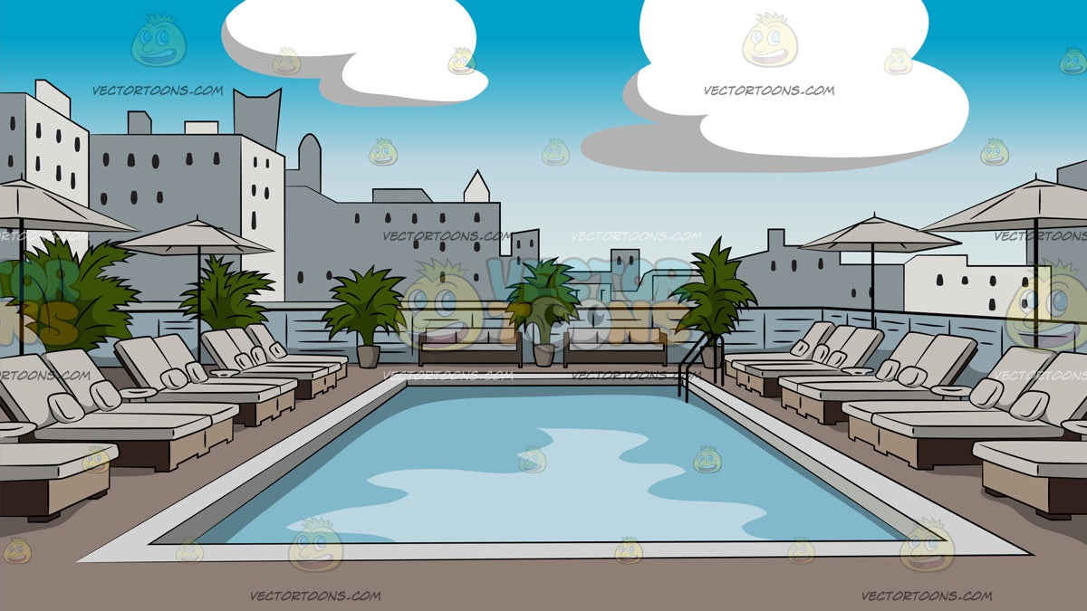 Luxury Hotel Rooftop Pool Background