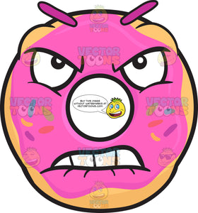 Mad And Very Furious Donut Emoji