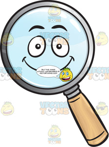 Happy Magnifying Glass Emoji