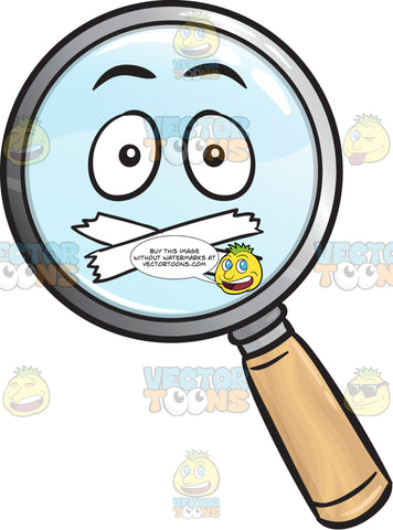 Sealed Mouth Magnifying Glass Emoji