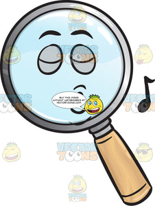 Singing Magnifying Glass Emoji