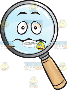 Nervous Magnifying Glass Emoji