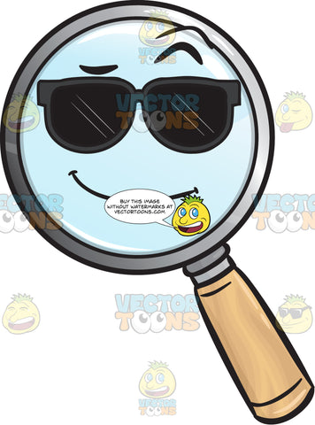 Cool Looking Magnifying Glass Emoji