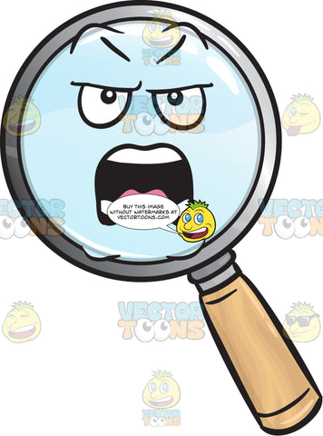 Nagging Magnifying Glass Emoji