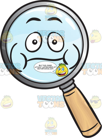 Bloated Magnifying Glass Emoji
