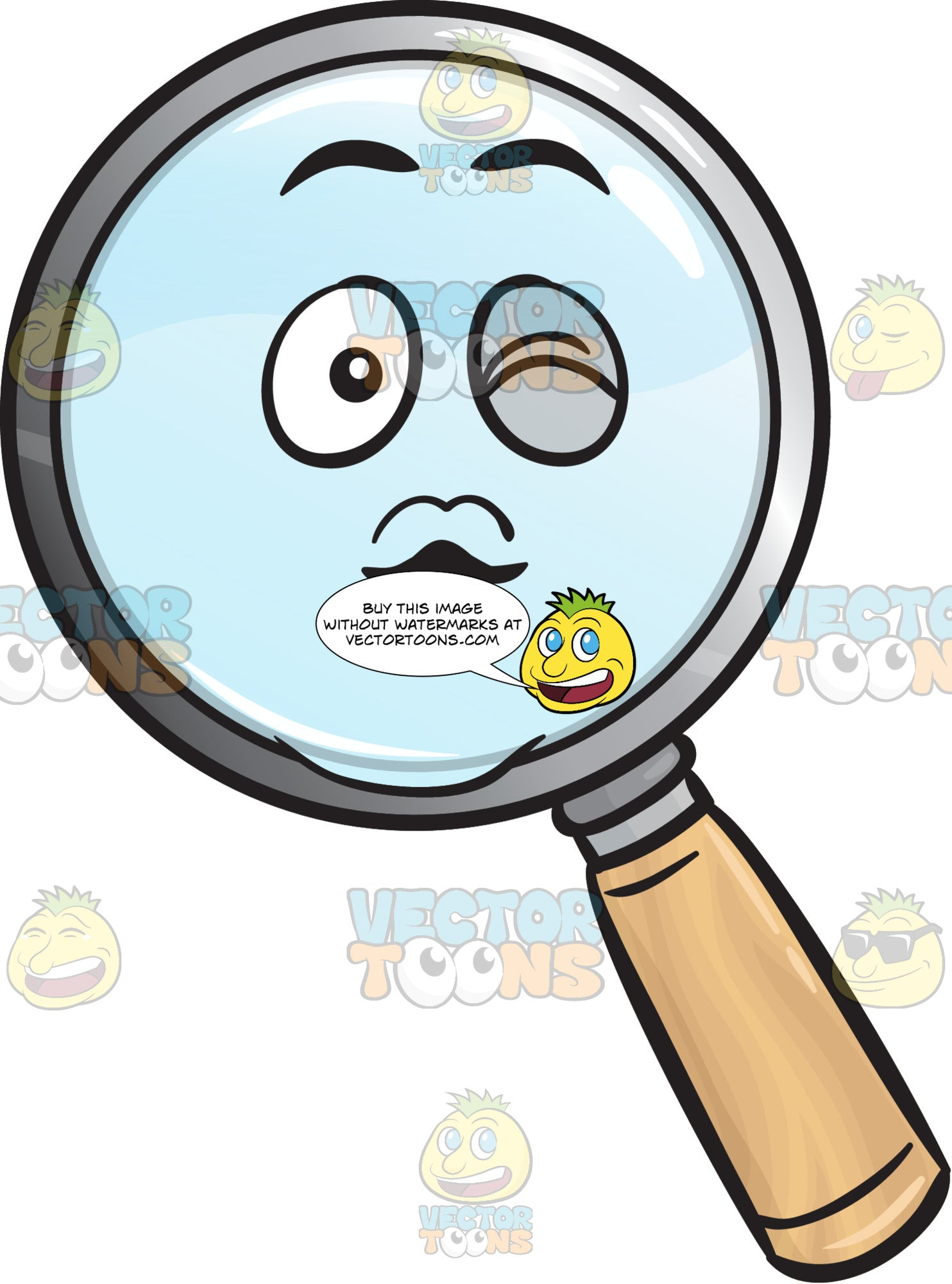 Magnifying Glass Blowing A Kiss Emoji
