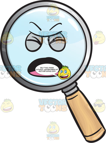 Nagging Magnifying Glass With Closed Eyes Emoji
