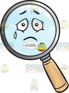 Heavy Hearted Magnifying Glass Emoji