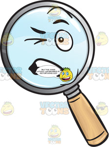 Disturbed Magnifying Glass Emoji