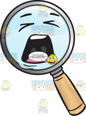 Distraught Magnifying Glass Emoji
