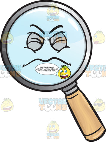 Constipated Magnifying Glass Emoji