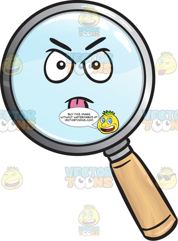 Intimidating Magnifying Glass Emoji