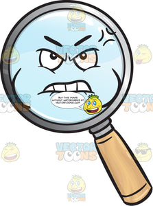 Distressed And Mad Magnifying Glass Emoji
