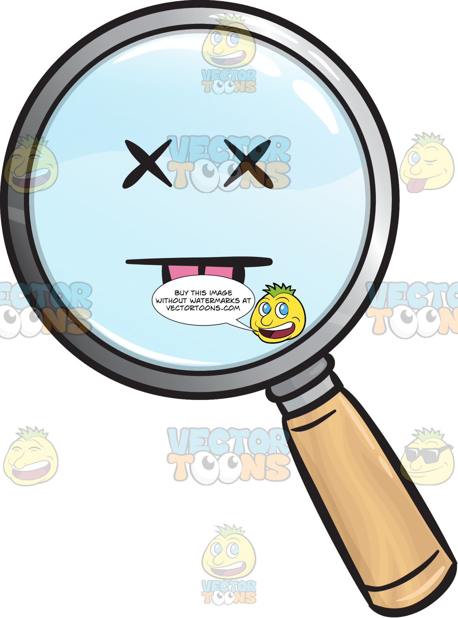 Silly Magnifying Glass Emoji