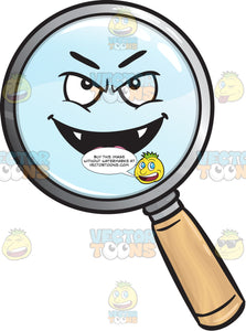 Vampire Magnifying Glass Emoji
