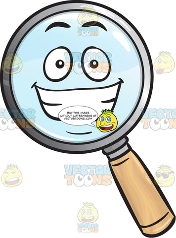 Grinning Magnifying Glass Emoji