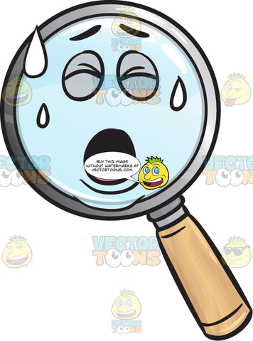 Pained Magnifying Glass Emoji