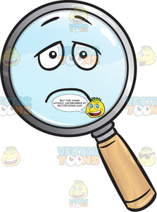 Depressed Magnifying Glass Emoji