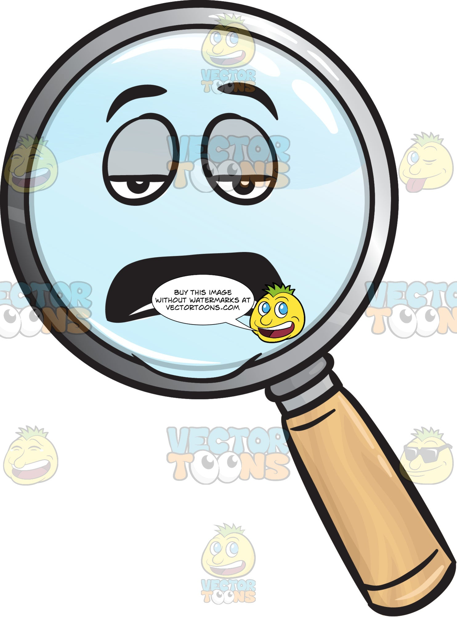 Tired Magnifier Emoji