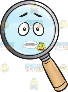 Dumbfounded Magnifier Emoji