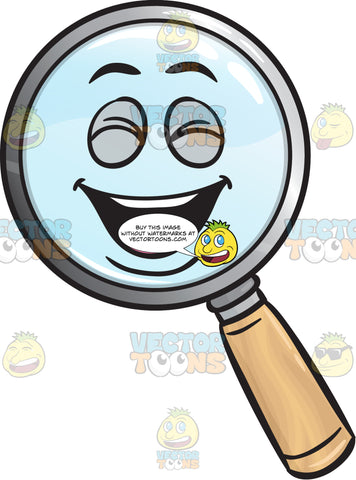 Laughing Magnifier Emoji