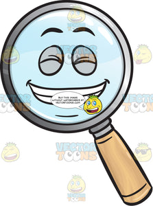 Guilty Grin Magnifier Emoji
