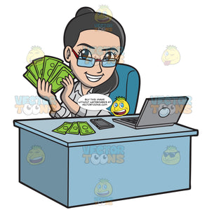 A Happy Woman Making Money Online