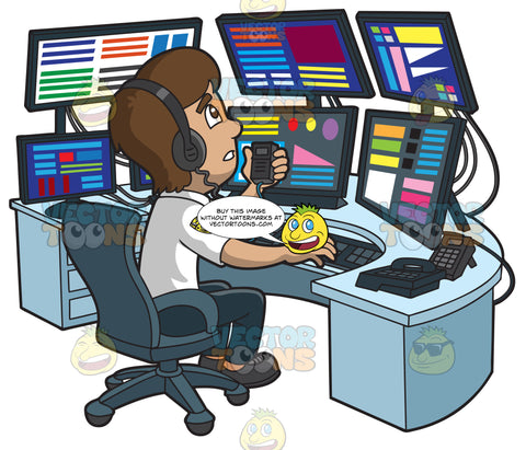 A Worried Male 911 Dispatcher