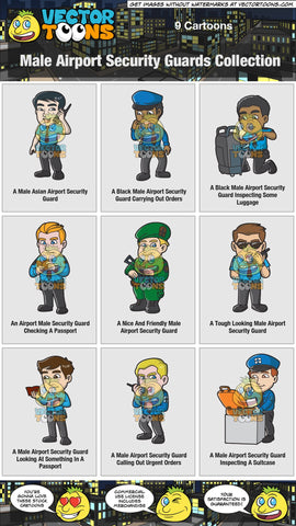 Male Airport Security Guards Collection