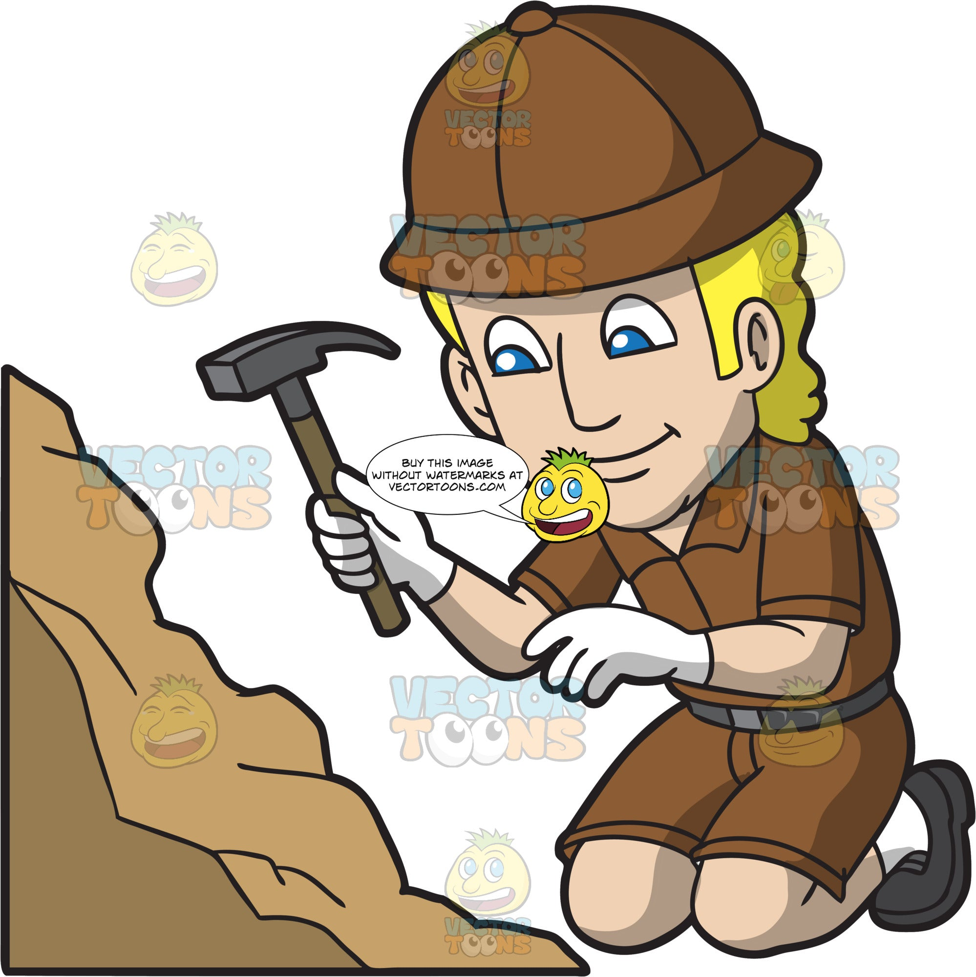A Male Archaeologist Looking For A Discovery