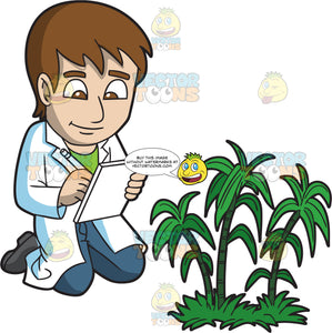 A Male Botanist Writing His Plant Observations