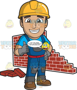 A Satisfied Male Bricklayer