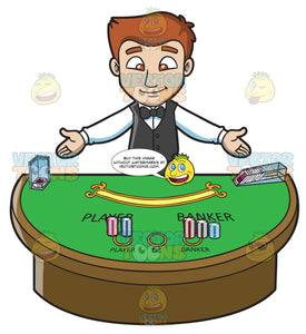 A Welcoming Male Casino Dealer