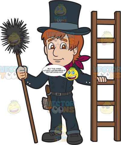 A Charming Male Chimney Sweep