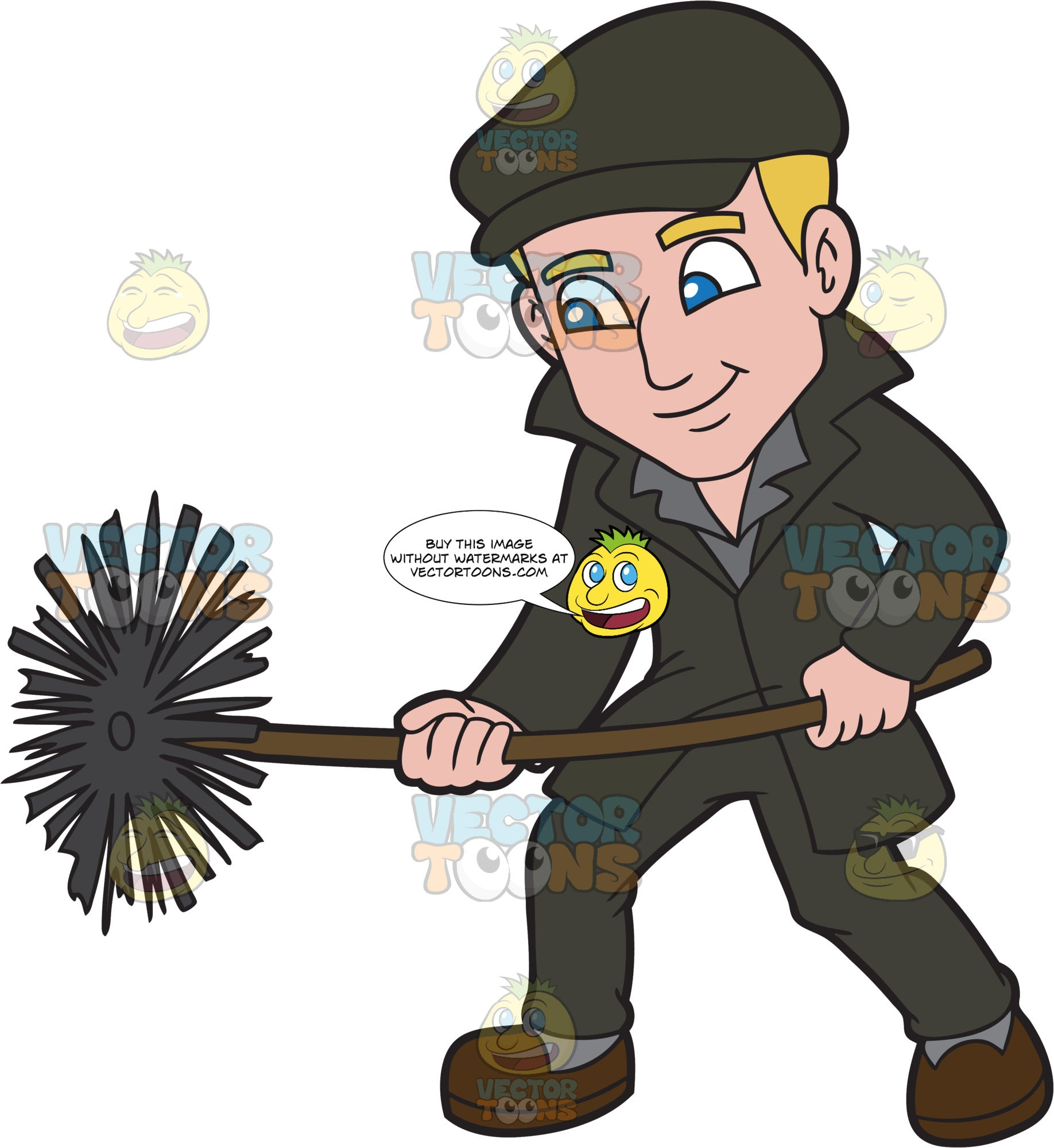 A Sleek Male Chimney Sweep