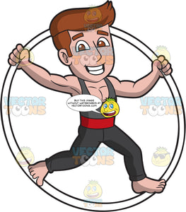 A Male Cyr Wheel Performer