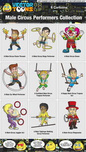 Male Circus Performers Collection