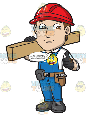 A Happy Male Construction Worker