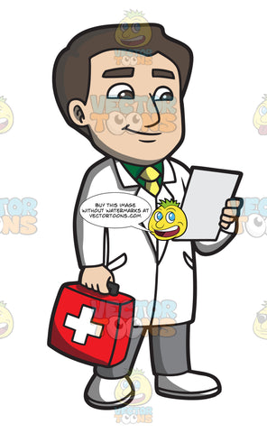 A Doctor With A First Aid Kit