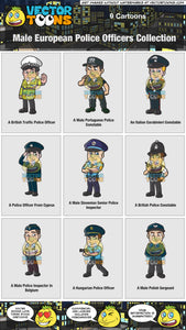 Male European Police Officers Collection