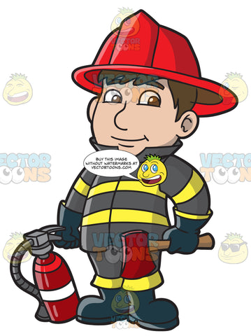 A Kind Looking Firefighter