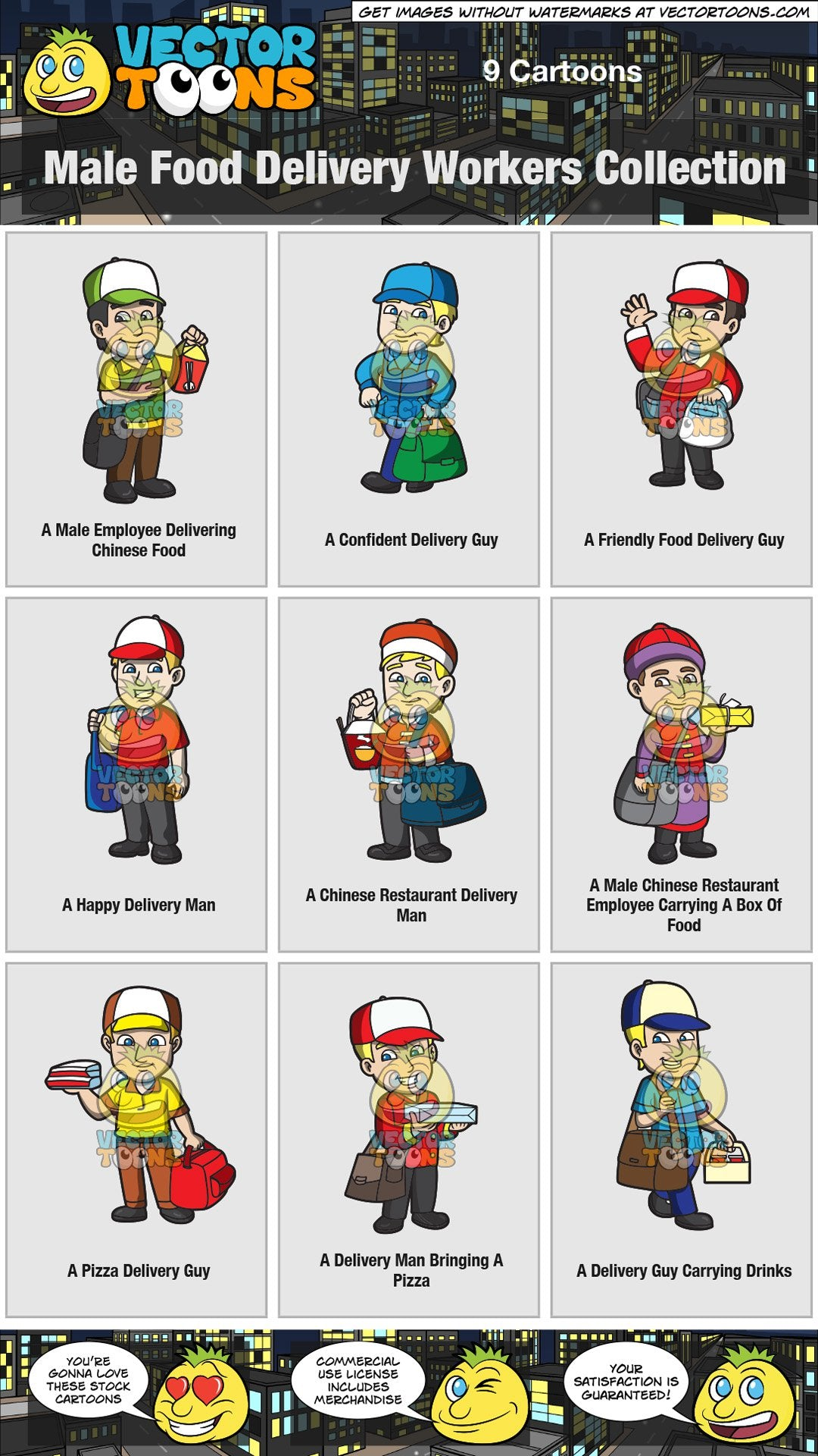 Male Food Delivery Workers Collection